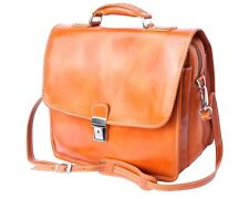 Italian Handmade Leather Briefcase Handcrafted in Florence Italy 7615