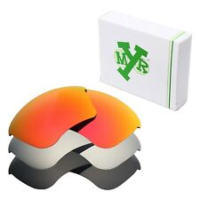 MRY POLARIZED Replacement Lenses for-Oakley Half Jacket XLJ Red / Silver / Black