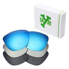 MRY POLARIZED Replacement Lenses for-Oakley Frogskins Blue / Silver /Black