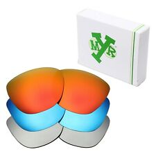 MRY POLARIZED Replacement Lenses for-Oakley Frogskins Red / Blue / Silver