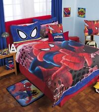 New Boys MARVEL SPIDERMAN ULTIMATE Softy Fuzzy Comforter Sheet Set SPIDER MAN