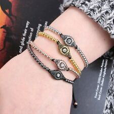 NEW Fashion Adjustable Men's Evil Eye Beads Stone Braiding Macrame Rope Bracelet