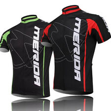 Merida Vintage Cycling Jersey Red/Green Men's Cycling Jersey Bike Bicycle Shirt