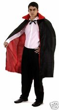 Long Victorian Vampire Witch Cape Cloak Reversible Black Red Padded Collar 102cm