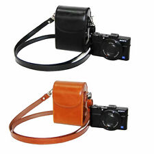 Leather Compact DC Case Camera Bag for sony DSC-RX100 HX60 HX80 HX90 WX500 WX350