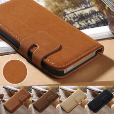 Vintage Soft Leather Magnetic Flip Stand Wallet Case Cover For iPhone 5 5s 5SE