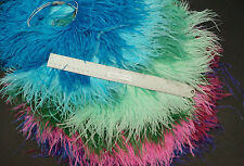 """Sebastiani 6"""" to 7"""" Ostrich Plume Fringe 3"""" Sections Fly Tying/Intruder Feathers"""