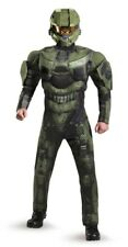Deluxe Muscle Master Chief ADULT Costume NEW Halo