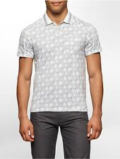 calvin klein mens classic fit geometric print polo shirt