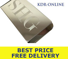 Custom Engraved Large Silver Plated Money Clip Personalised - Wedding Favour