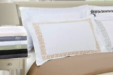 Excutive 3000 Series Floral Lace Embroidery Duvet Cover Set
