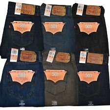 Levis 501 Jeans Mens Original Fit Limited Edition Medium Dark Rinsed Stonewashed