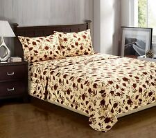 Heritage 1800 Series Microfiber Elm Leaves Sheet Set