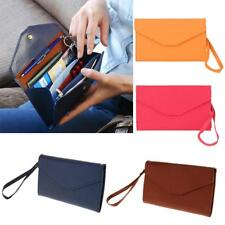 Travel ID Card Holder Passport Cash Container Bag Purse Wallet Strap 4 Colors