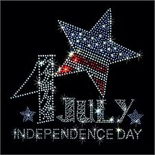 Patriotic 4th of July Rhinestone T-Shirt-Sizes XS-4XL - Independence Day