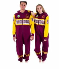 BRISBANE BRONCOS NRL TEAM ADULT ONESIE FOOTBALL FOOTYSUIT UNISEX PYJAMAS