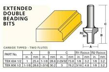 Carb-I-Tool - Carbide Tipped Extended Double Beading Router Bits - 25.4mm 28.6mm