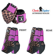 6 PACK CLASSIC EQUINE FRONT REAR SPORTS NO TURN BELL BOOTS LEGACY HORSE CHEETAH