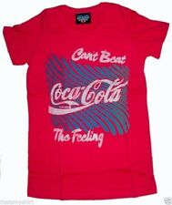 New Authentic Junk Food Coca-Cola Can't Beat The Feeling Retro Juniors T-Shirt