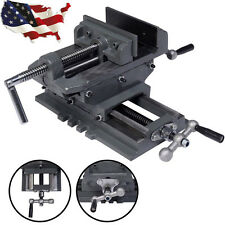 "4""/ 5"" Cross Drill Press Vise X-Y Clamp Machine Slide Metal Milling 2 Way HD Hot"