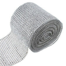 "4.7"" Diamond Mesh Wrap Roll Rhinestone Wedding Party Decor Trim Wrap Roll New"