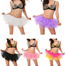 Adult Girl Dance Tutu Petticoat 6 Layered Organza Lace Clubwear Mini Party Skirt