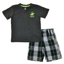 Beverly Hills Polo Club Toddler Boys Gray Top 2pc Short Set Size 2T 3T 4T $34