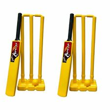 Cricket Kwik Set Yellow 2 indoor outdoor plastic bails ball kit complete case