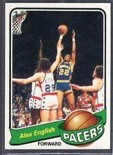 """1979-80 - ALEX ENGLISH - Topps """"ROOKIE"""" Basketball Card # 31 - Indiana Pacers"""