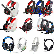 3.5mm Stereo HiFi Music Gaming Headset Headband Headphone With Mic For PC