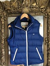Jack Wills Navy Gilet With Detachable Hood  Body Warmer Down Feather
