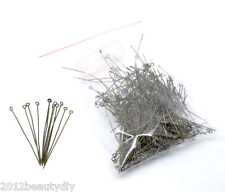 Wholesale Bronze Tone Eye Pins Findings 65x0.8mm