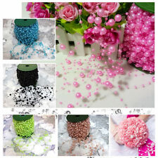60m 8+3mm Plastic Pearl Bead Garland Wedding party home Bouquet DIY Decoration