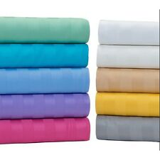 "Real 600TC 100% Egyptian Cotton Super Soft Striped 4PC Sheet Set 16""Deep CA Size"