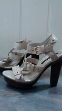 Gorgeous River Island cream leather sandals worn once size 5