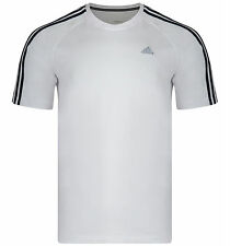 NEW MENS ADIDAS 3 S WHITE CLIMA365 PERFORMANCE ESSENTIALS T SHIRT ASIAN SIZES