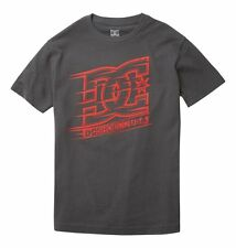 DC Shoes RACER6  Boys Youth Short Sleeve T-Shirt Medium Charcoal NEW