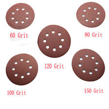 "5"" 8Hole Grit Sand Disc Random Orbit Sandpaper Hook and Loop Sanding Sander Nice"