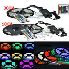 5M 5050 150/300 LEDs SMD LED Flexible LED Strip Light Colorful 12V Power Supply