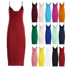 Womens Celebrity Strappy Ladies Summer Casual Wrap Cross Over Bodycon Midi Dress