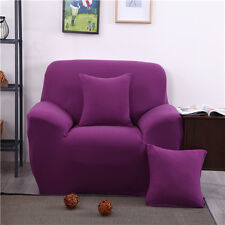 Purple Spandex Stretch Fitted Sofa Case Pet Protector for 1 2 3 4 seater L