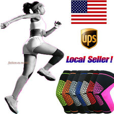 Durable Elastic Copper Fit Sports Leg Knee Compression Support Brace Sleeve Gear