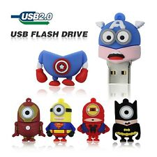 New 8Gb Avengers Minion heroes Novelty USB2.0 Flash Drive Memory Stick Pen Drive