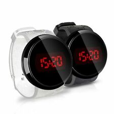 Men's Fashion LED Digital Touch Screen Day Date Silicone Strap Band Wrist Watch