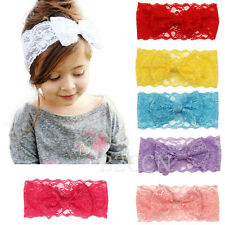 Newborn Baby Girls Headband Infant Toddler Bow Kids Hair Band Accessories Photo