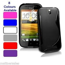 Soft Gel S Line Case Cover Skin for HTC One SV / ST + Free Screen Protector