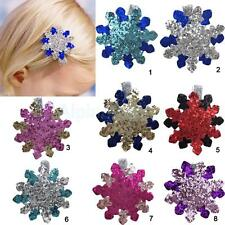 Sequins Flower Hair Clips Spring Clips Barrette Kids Girls Adults Hair Accessory