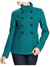 NWT OLD NAVY WOMENS CLASSIC CROPPED PEACOAT - EMERALD WATERS SOLD OUT COAT