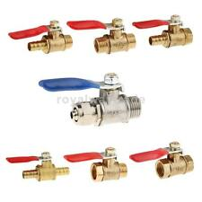 Connector Ball Valve Threaded Stainless Brass Valve 1/4'' 3/8'' 1/2''