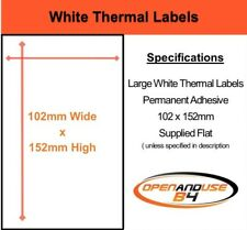 BLANK WHITESelf Adhesive Postage / Parcel Labels - 152mm x 102mm ( 6 x 4 inches)